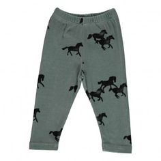 Horses Leggings Green  Bobo Choses
