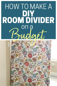 Do you have a little corner of your home that you'd like to hide? Have you been thinking of getting a cheap room divider, but weren't sure how to pick one out? Here's an easy way to make your own DIY room divider. #Organizing #MomHacks #organizingmoms Cheap Room Dividers, Diy Room Divider, Room Deviders, Organizing Your Home, Organizing Ideas, Budget Organization, Little Corner, Organized Mom, Laundry Hacks