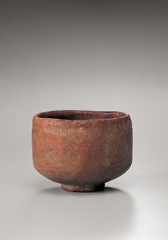 Chōjirō (Raku I), Tea Bowl named 'Tarobo', 16th century, Red Raku ware; glazed ceramic, Urasenke Foundation. Photo: Masayuki Miyahara