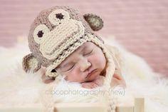 Crocheting: Crochet Monkey Hat