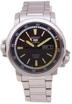 Price:$199.75 #watches Seiko SNZJ61K1, This Seiko Automatic Sport Timepiece is a great find. Stainless Steel, with automatic movement and Day/Date .