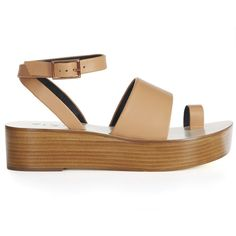 Tibi Janie Sandals ($395) ❤ liked on Polyvore featuring shoes, sandals, tea rose, navy shoes, navy platform shoes, ivory sandals, platform shoes and ivory platform shoes