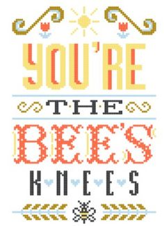 Bee's Knees modern cross stitch pattern by TinyBoxesDesigns