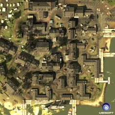 Coastal or river Town docks
