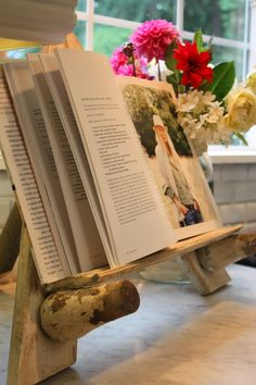 ~how to make a cookbook stand~{thrifty thursday}