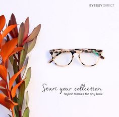 Add some glamour and sophistication with ivory tortoise eyeglasses.