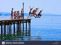 Stock Photo - A bunch of kids having fun on a hot summer day on the pier in Molyvos town, Lesvos island, Greece - Top Trends Bougainvillea Colors, Summer Scenes, Greece Travel, Greek Islands, Summer Days, Have Fun, Stock Photos, Vacation, Fun Group