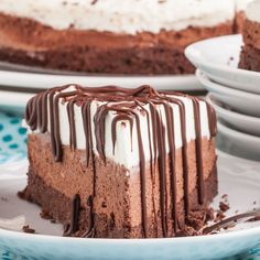 Triple Chocolate Mousse Cake (GF) - Didn't know gluten free desserts could be this fab.  Melt-in-your-mouth.  Decadent, rich, yet light and smooth.  Chocolate lovers, be still.