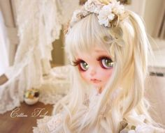 ◆ Cotton Tail ◆ Milky Flower Custom Blythe Buy her here: #‎blythe #‎blythedolls #‎kawaii #‎cute #‎rinkya #‎japan #‎collectibles #‎neoblythe #‎customblythe