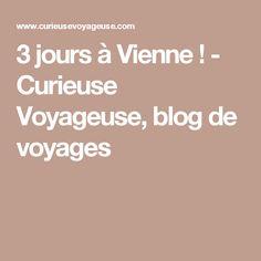 3 jours à Vienne ! - Curieuse Voyageuse, blog de voyages