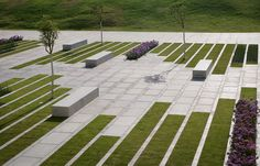 A map of the best contemporary landscape architecture projects from around the world. Villa Architecture, Landscape Architecture Design, Landscape Plans, Urban Landscape, Architecture Images, Architecture Portfolio, Park Landscape, Ireland Landscape, Street Furniture
