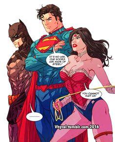 Trinity, batman, wonder woman, superman, dc by vhyrel
