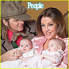 Lisa Marie Presley w/ twins