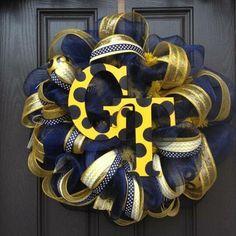 Georgia Tech Deco Mesh Wreath. $105.00, via Etsy.