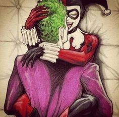 grafika harley quinn and joker Harley And Joker Love, Joker Y Harley Quinn, Harley Quinn Drawing, Der Joker, Joker Art, Batman Art, Heath Ledger Joker, Harley Queen, Captain America Comic