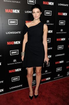 I love the dress and shoes. (Jessica Pare from Mad Men at the AMC premier.)