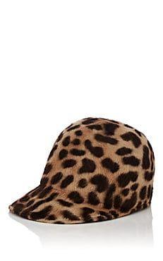 f6ac020e6d8 Mélusine Leopard-Print Fur-Felt Baseball Cap Baseball Cap