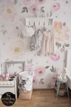 Vintage Fl Wallpaper Removable Wall Mural Nursery Decor Flower Pattern Covering Repositionable 65