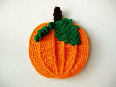 Crochet Pumpkin Pot Holder Hot Pad potholder Halloween Holiday Kitchen Decoration Decor Housewarming gift