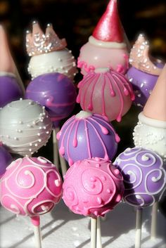 Princess Cake Pops by PetiteDelightsbyMichele, via Flickr