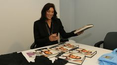 Hope Solo signing copies of her memoir at a Man City game in Manchester, March 23, 2014.