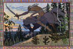 Ivan Bilibin - Koschei the Deathless from Marya Morevna 1900