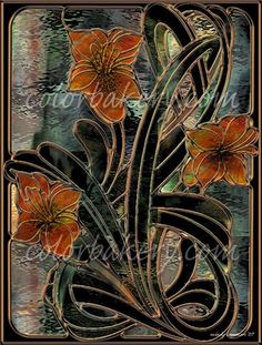 Stained Glass Digital Art, Nouveau Parabolas | Flickr - Photo Sharing!