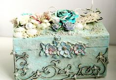 Dusty Attic - Emeline Seet - Singapore (2011 Design Team) / I love this color! What a pretty box to maybe keep love notes, keepsakes from your wedding/shower or the sweet things our kids make us : )