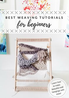 A round-up of the best weaving tutorials for beginners - if you've always wanted to get into weaving, here are some super easy-to-follow tutorials from some professional weavers! Such a fun hobby to start up and use up that yarn stash!