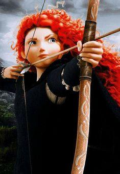 brave, disney, and merida I am Merida, first born descendant of Clan DunBroch, and I'll be shooting for my own hand. Walt Disney, Disney Magic, Disney Art, Disney Movies, Disney Characters, Merida Disney, Brave Disney, Face Characters, Disney Fairies