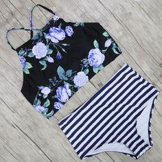 2250a7408a0bb Item Type  Bikinis Set Brand Name  sporlike Gender  Women Waist  High Waist