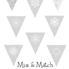 Mix and Match Snowflake Bunting