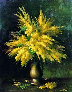 """ohdarlingdankeschoen: """"https://www.pinterest.com/pin/396809417143592288/ Mimosa Bouquet - Serguei Toutounov """""""