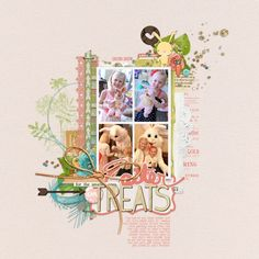 Such a sweet easter page by LoriS at #DesignerDigitals with this new #LayerWorks