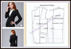 Patrón y costura : chaqueta americana de señora-tema 72