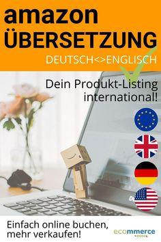 Buche ganz unkompliziert die professionelle Übersetzung deiner Amazon-Produktseite für den internationalen Onlinehandel! Inklusive Keyword-Recherche, Amazon-SEO-optimiert, von Muttersprachlern der Zielsprache und eCommerce-Spezialisten. Text deiner ASIN in voller Länge, inklusive Grafiken. Bei Bedarf mit blitzschneller Lieferung innerhalb 2 Tagen. Für Händler, Verkäufer, KDP-Autoren im Selbstverlag, Amazon FBA oder FBM. Kein Kostenvoranschlag nötig - einfach online bestellen! Zum Angebot >> Ecommerce Marketing, Online Marketing, Amazon, Selling Online, Positive Changes, Online Trading, Advertising Ads, Authors, Graphics