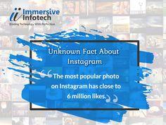Unknown Fact About Instagram #Instagram #InstagramFacts #ImmersiveInfotech Instagram Facts