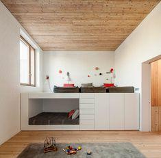 chambre mixte de design minimaliste