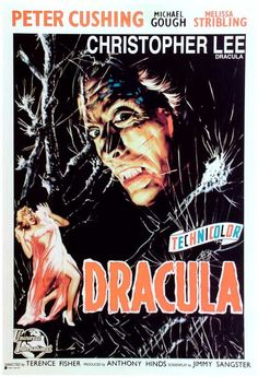 The Horror Of Dracula (1958) Christopher Lee and Peter Cushing, Britain's premier masters of the macabre, bring the Horror of Dracula to vivid, full-color death in this retelling of Bram Stoker's spel