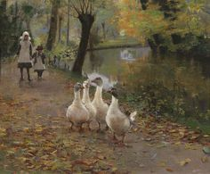 sir‑john‑lavery‑the‑goose‑girls..... Scottish, Glasgow School of Painting