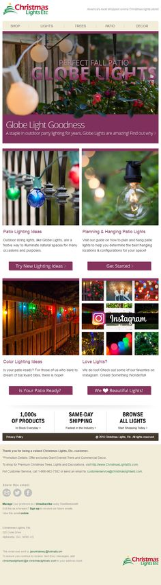 Christmas Lights Etc, Patio Lighting, Globe Lights, New Instagram, How To Find Out, Good Things, Design