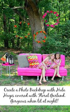 Lit Floral DIY Photo Backdrop