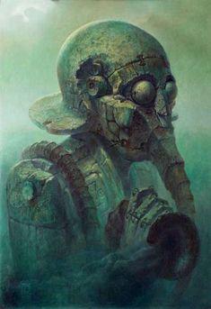 """""""Deity"""" oil on canvas - Dariusz Zawadzki"""