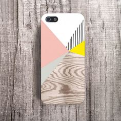 YELLOW iPhone Case Wood Print Baby Pink iPhone 4 by casesbycsera, $18.99