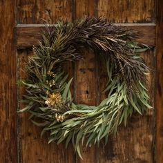 """""""Image of Audrey"""" Gorgeous, luxuriously textured wreath. Would love this on my front door!"""