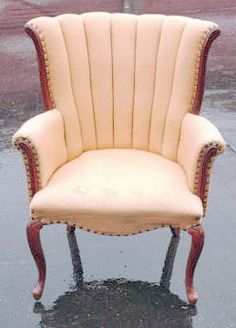bedroom chair   Design Your Own Custom Vintage Queen Anne Chair by KLUpholstery, $650.00