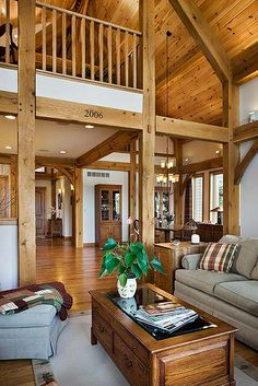 west lake timber frame home great room by riverbend timber framing