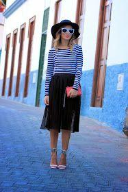 Falda midi plisada - Pleated midi skirt