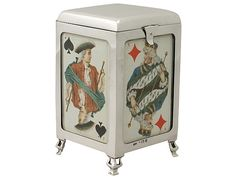Sterling Silver Playing Card Box - Antique Edwardian  SKU: A4782 Price: GBP £2,250.00  http://www.acsilver.co.uk/shop/pc/Sterling-Silver-Playing-Card-Box-Antique-Edwardian-42p8406.htm