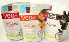 THE BEST HEALTHY SMOOTHIE PRODUCT! TROPICAL WITH FROZEN PINEAPPLE BITS, PEACH JUICE AND A BANANA! NO SUGAR OTHER THAN FRUIT AND JUICE! Energizing Vega Smoothie -